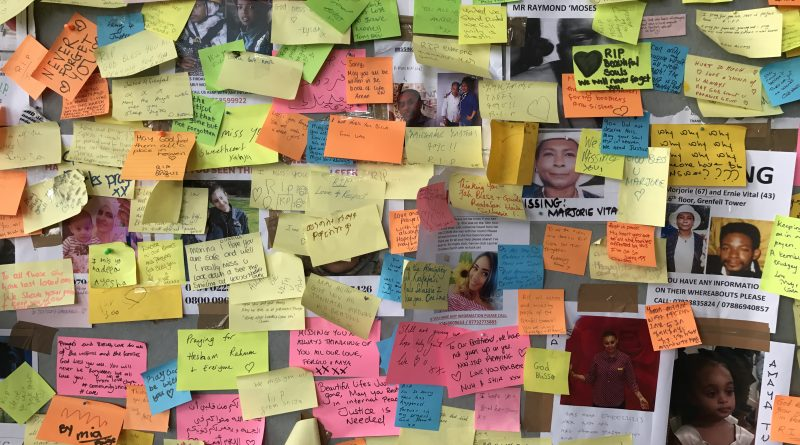 Messages for the Missing of Grenfell Tower © London Intelligence